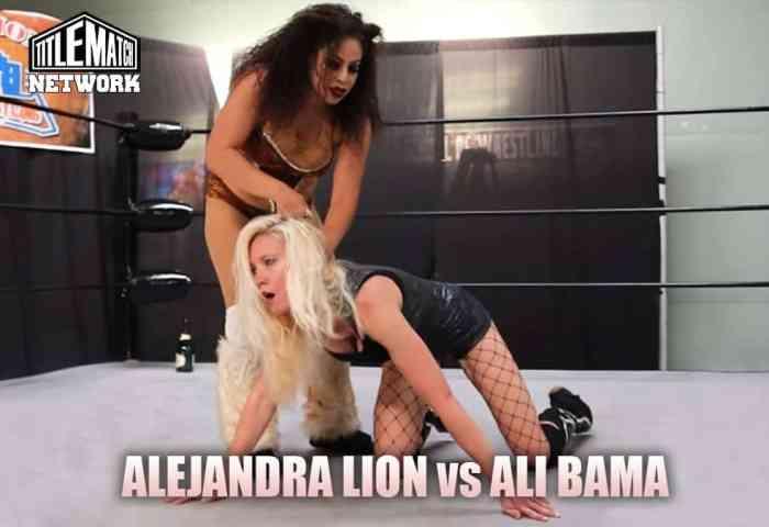 Ali Bama vs Alejandra the Lion - Mission Pro Wrestling (Women's Wrestling) Customs JPG 1200x675 Title Match Network no logo