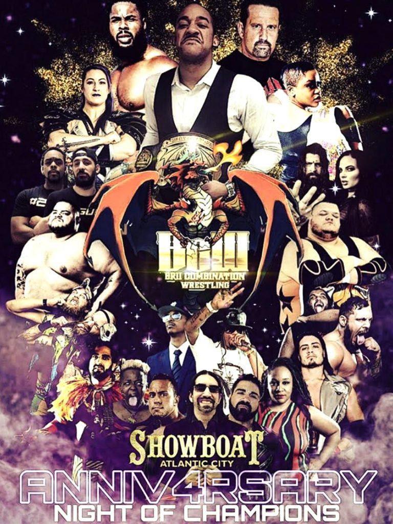 BCW Brii Combination Wrestling 4th Anniversary 18x24 Poster