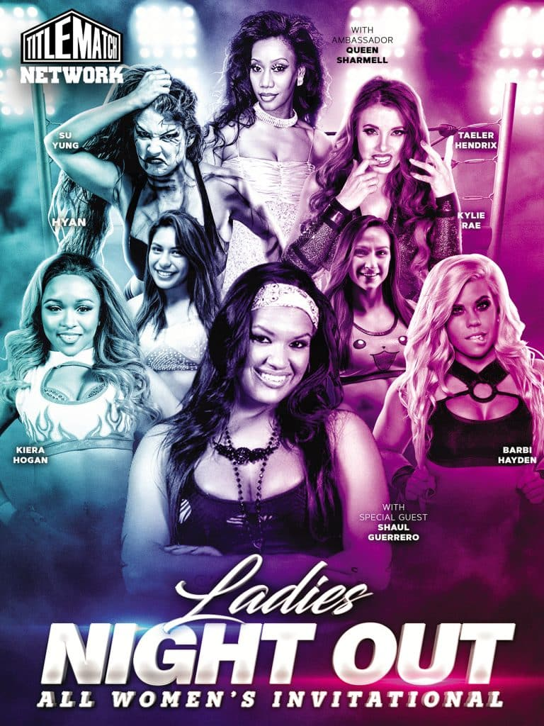 Ladies Night Out Women's Wrestling 18x24