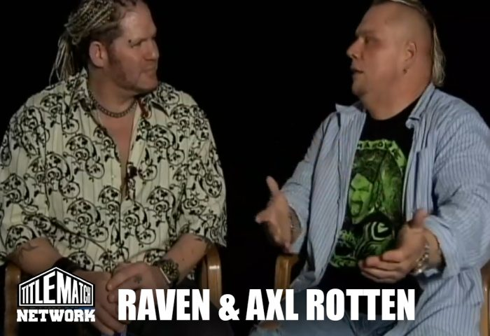 Raven and Axl Rotten, 2 ECW legends
