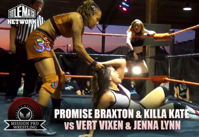 Vert Vixen and Jenna Lynn vs Promise Braxton and Killa Kate - Mission Pro Wrestling JPG 1200x675 New