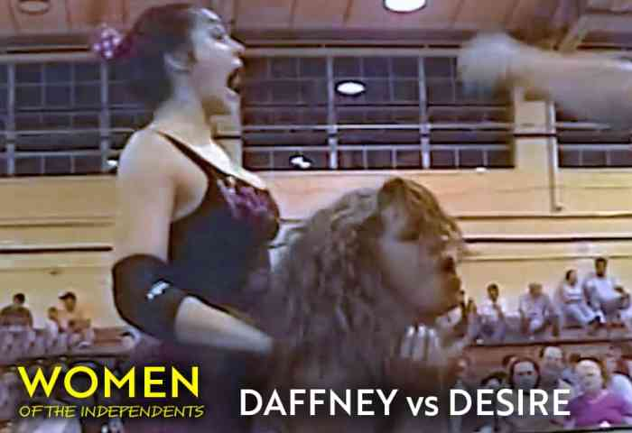 Daffney (Lucy) vs Desire - Women of the Independents Wrestling Vol 1 1200x675 Title Match Network