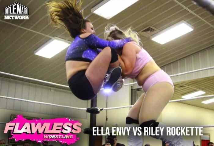 Ella Envy vs Riley Rockette 1200x675 Graphic Title Match Network - Flawless Women's Wrestling NEW