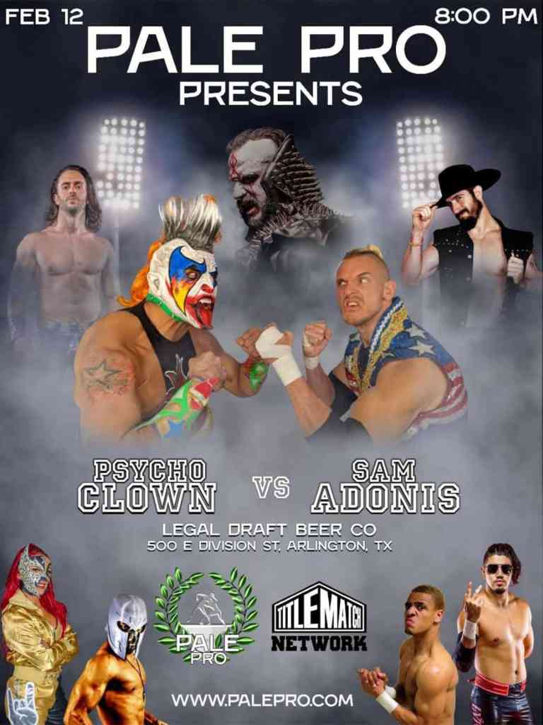 Pale Pro Wrestling 2.12.21 Poster 18x24 Title Match Network